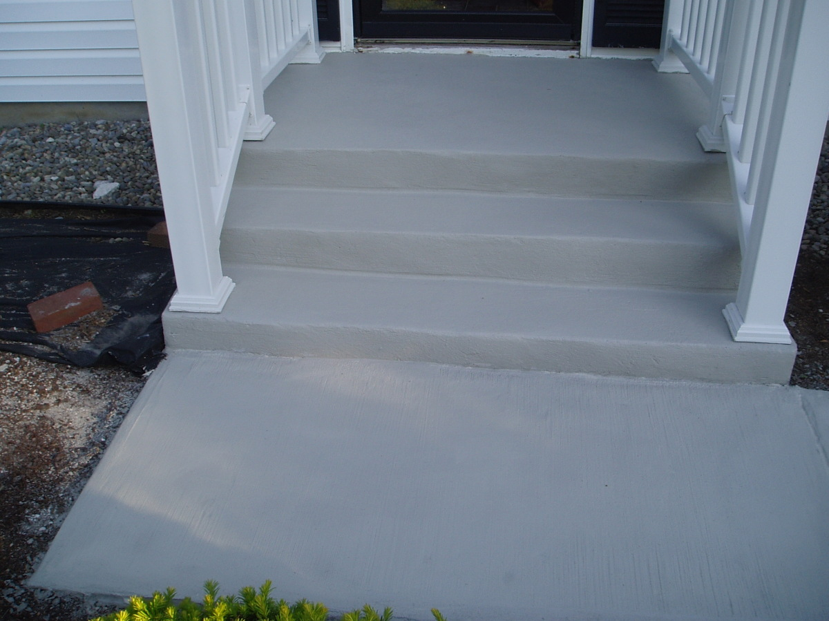 Carpet On Concrete Stairs